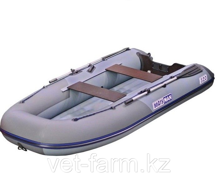 Лодка надувн. Boatsman ВТ320A НДНД моторная (серо-графитовый)