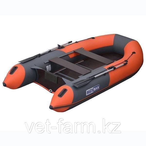 Лодка надувн. Boatsman ВТ330К моторная (графитово-оранжевый)