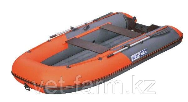 Лодка надувн. Boatsman ВТ340A НДНД моторная (графитово-оранжевый)