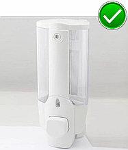 Дозатор антивандальный для жидкого мыла с ключом Белый цвет. Мыльница. Диспенсер жидкого мыла.