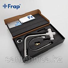 Смеситель для кухни с питьевым каналом белый Frap F4352-5A, фото 3