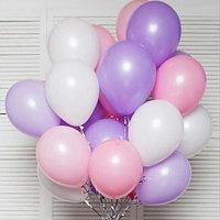 20 шаров в Розовом, Белом и Сиреневом цвете