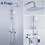 FRAP F2434 Душевая стойка белая/хром