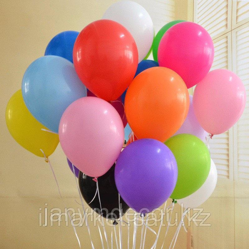 Яркие гелиевые шары 20 штук по 300тг - фото 1