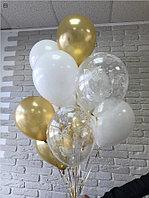 Нежный фонтан из 12 шариков