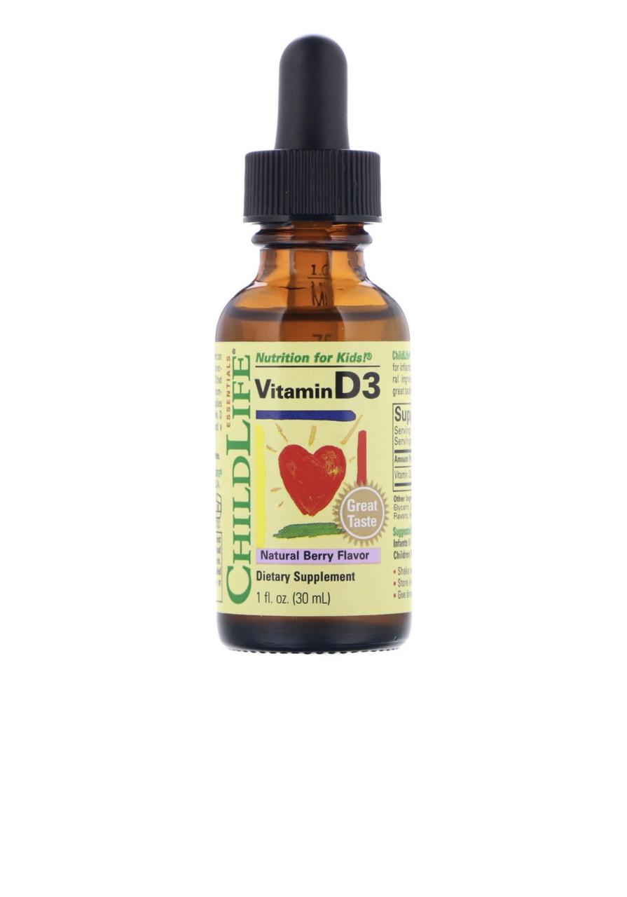 Витамин Д3, вкус натуральных ягод, 30 мл