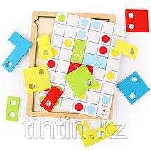 Деревянная игрушка - Тетрис (с 30 карточками), фото 3