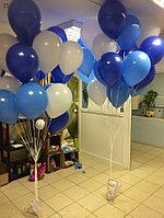 Два облака шаров по 20 штук в Синих цветах