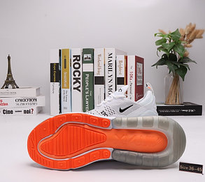 "Кроссовки Nike Air Max 270 ""White Orange"" (36-45), фото 2"