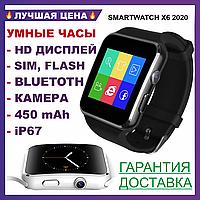 Умные часы смарт + Камера, СИМ и ФЛЭШ карта,  smart watch X6 - Bluetooth, flash, sim, Android, ios, фото 1