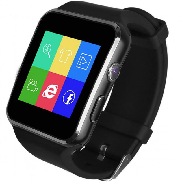 Умные часы смарт + Камера, СИМ и ФЛЭШ карта,  smart watch X6 - Bluetooth, flash, sim, Android, ios