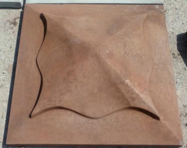 Накрывочный камень 450x450 на колоны  Коричневый