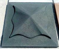 Накрывочный камень 450x450 на колоны  Черный