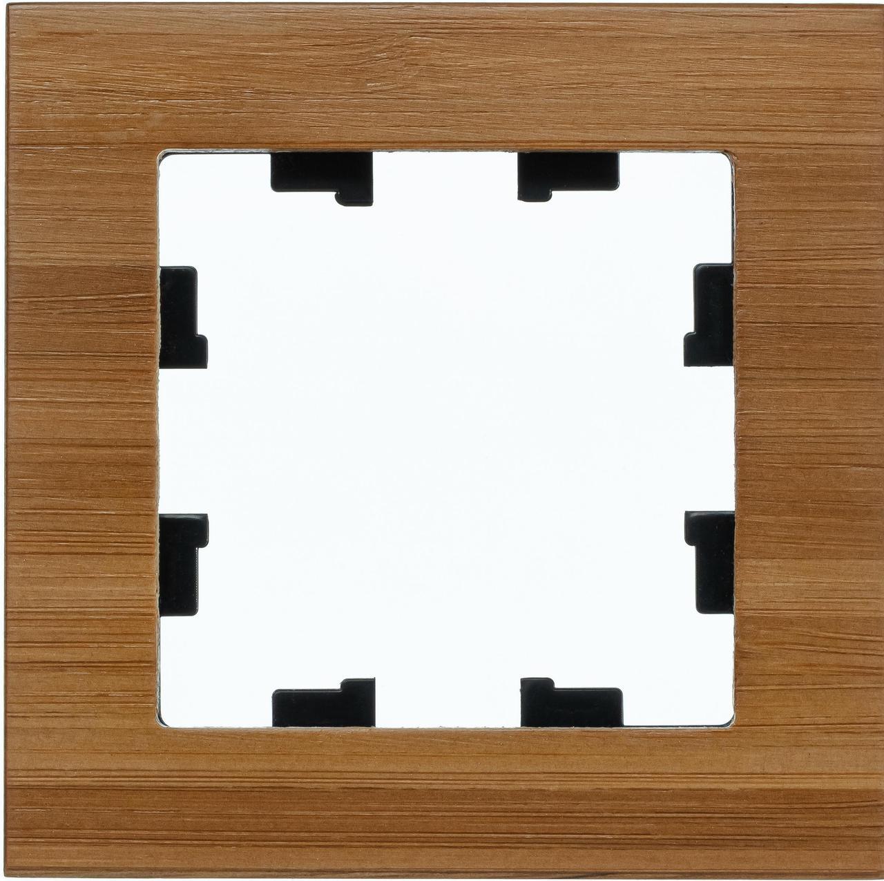 Рамка 1-ая (одинарная), Дерево Бамбук, серия Atlas Design Nature, Schneider Electric