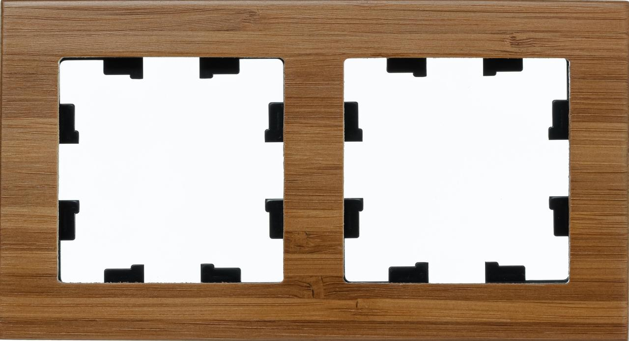 Рамка 2-ая (двойная), Дерево Бамбук, серия Atlas Design Nature, Schneider Electric