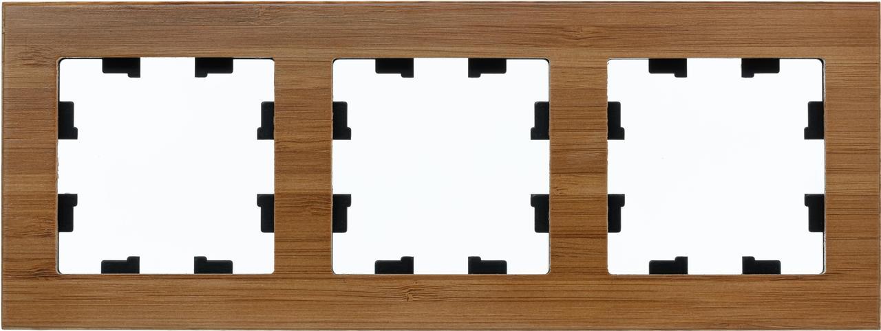 Рамка 3-ая (тройная), Дерево Бамбук, серия Atlas Design Nature, Schneider Electric