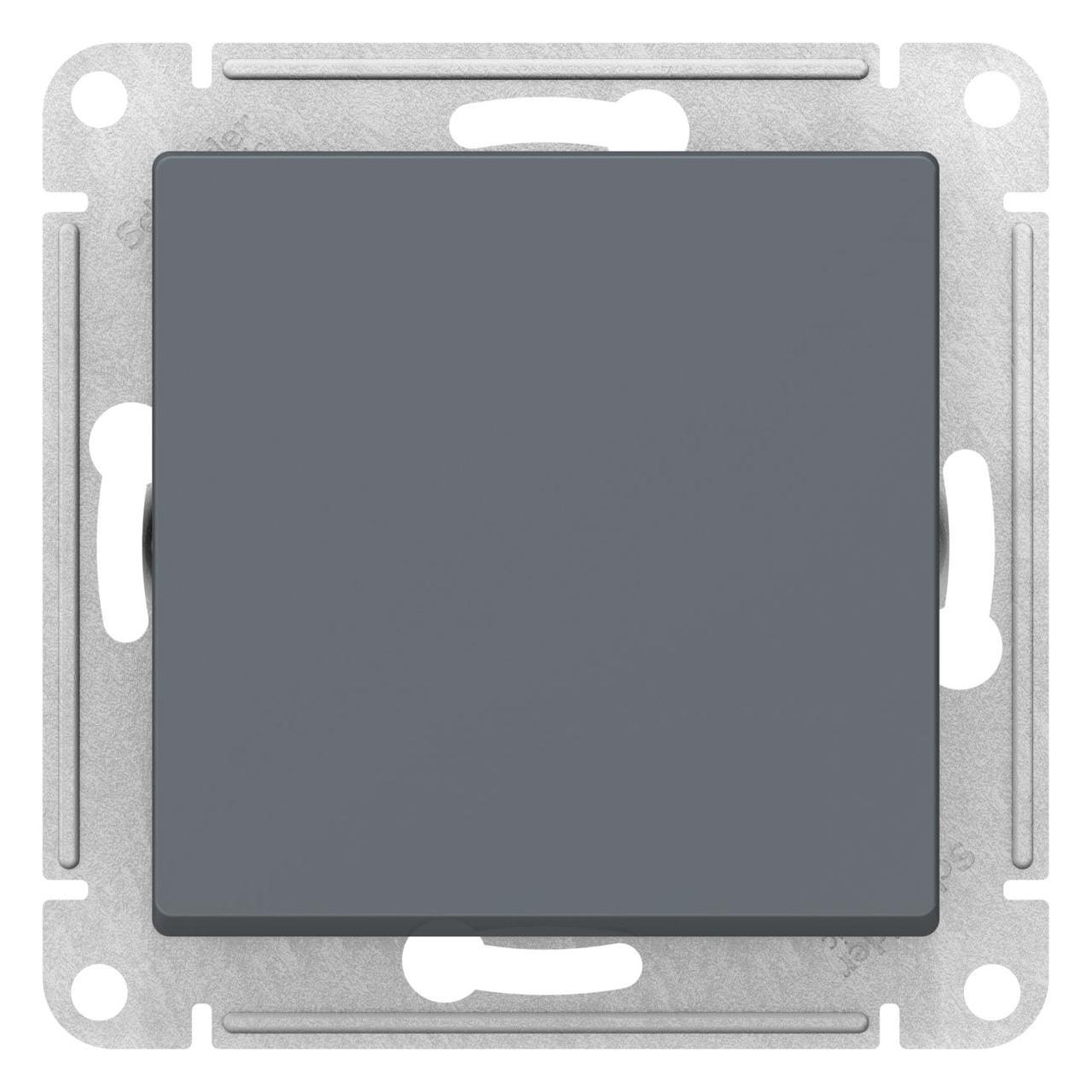 Выключатель 1-клавишный; кнопочный , Грифель, серия Atlas Design, Schneider Electric