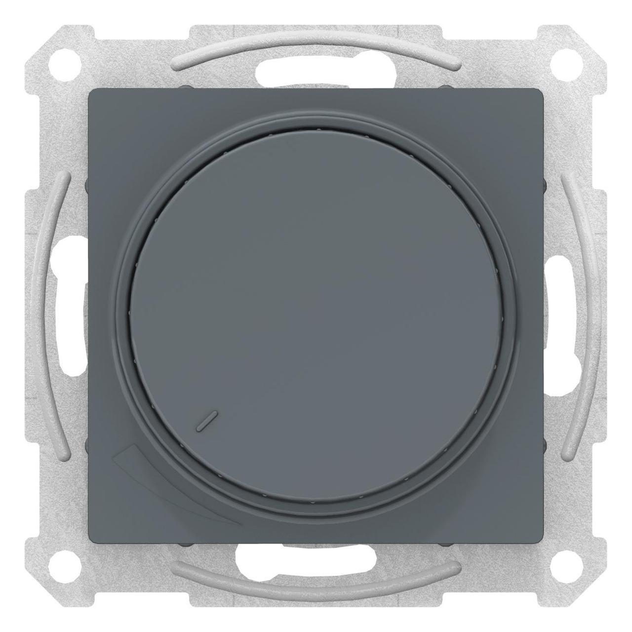 Диммер поворотно-нажимной , 300Вт для ламп накаливания , Грифель, серия Atlas Design, Schneider Electric