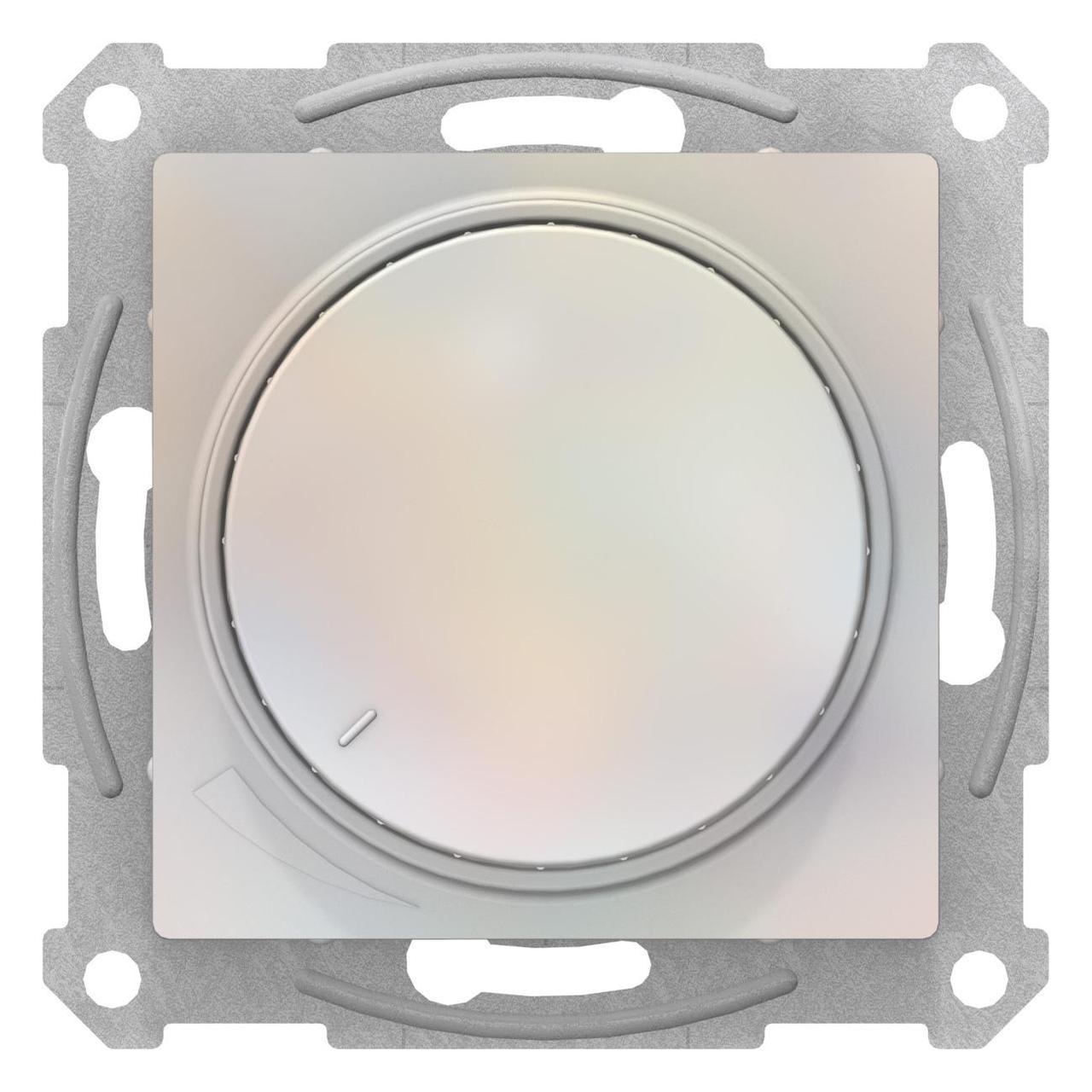 Диммер поворотно-нажимной , 600Вт для ламп накаливания , Жемчуг, серия Atlas Design, Schneider Electric