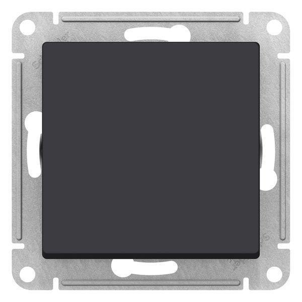 Выключатель 1-клавишный; кнопочный , Карбон, серия Atlas Design, Schneider Electric