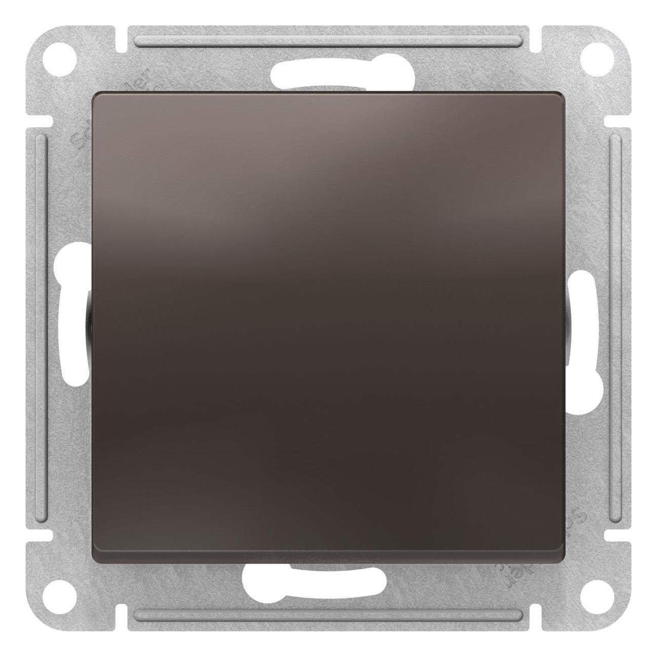 Выключатель 1-клавишный , Мокко, серия Atlas Design, Schneider Electric