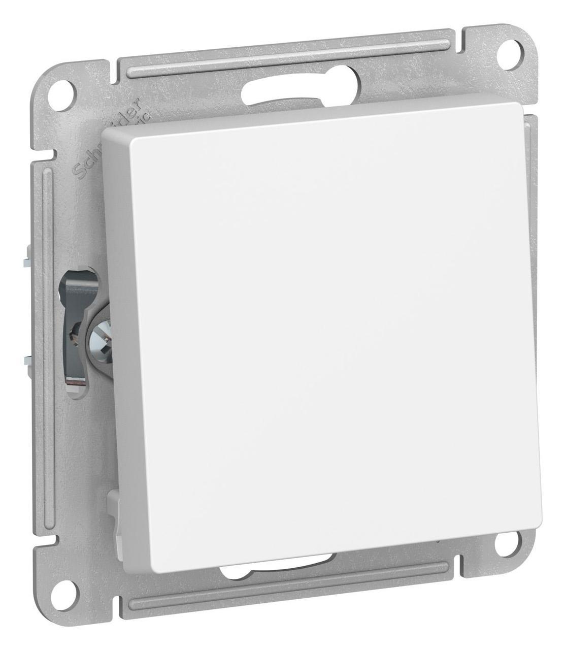 Выключатель 1-клавишный ,проходной (с двух мест) , Белый, серия Atlas Design, Schneider Electric