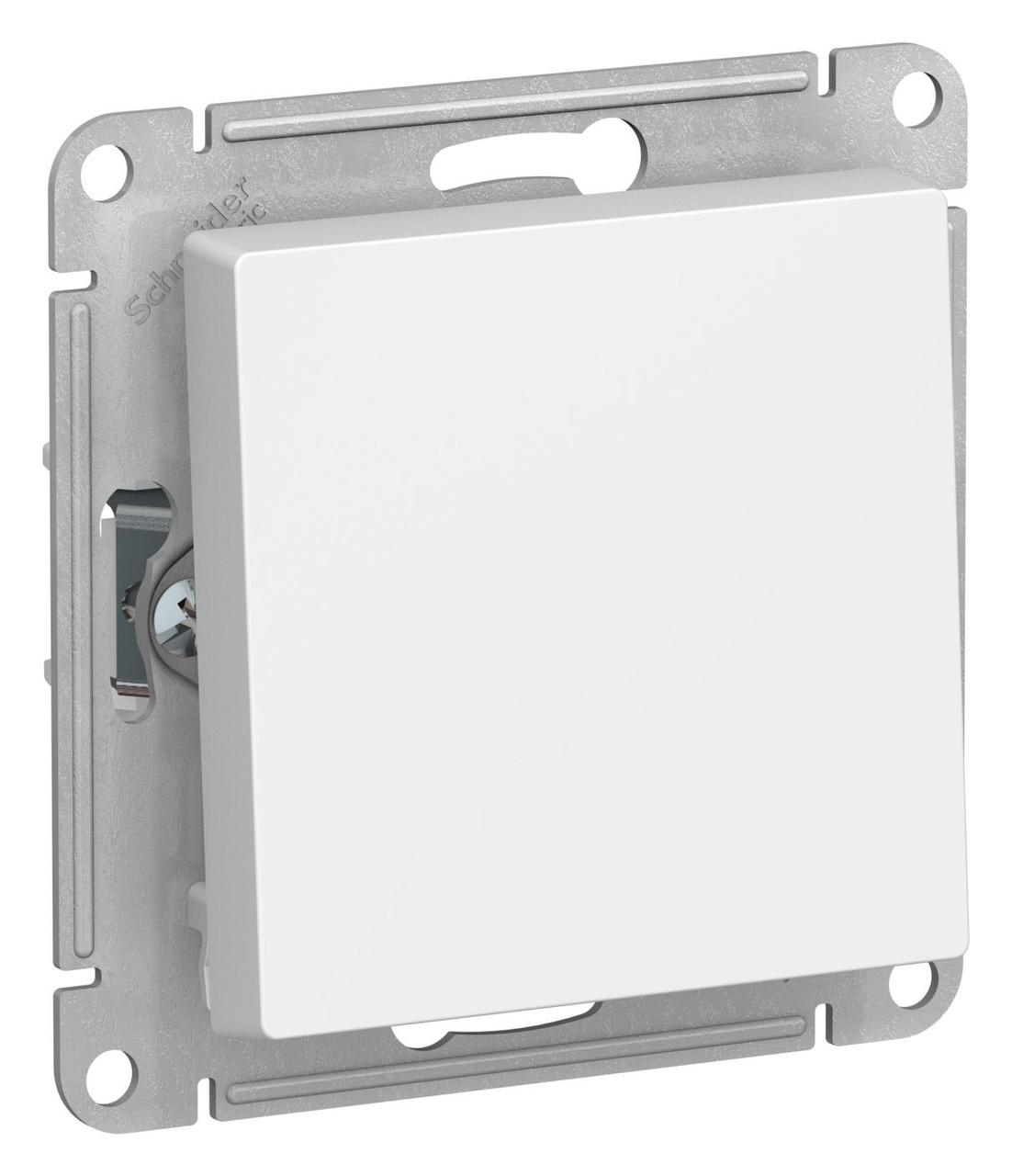 Выключатель 1-клавишный, перекрестный (с трех мест) , Белый, серия Atlas Design, Schneider Electric