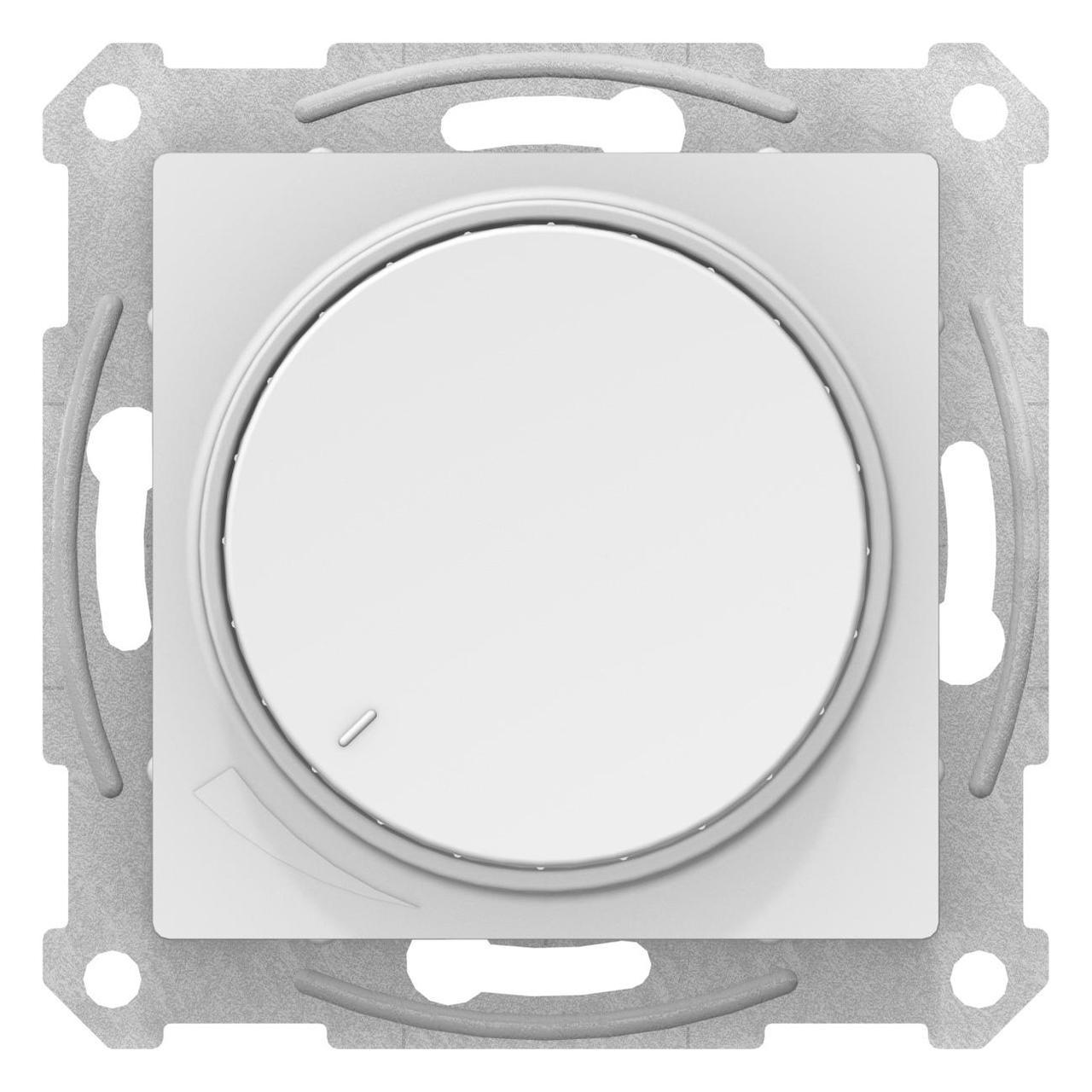 Диммер поворотно-нажимной , 600Вт для ламп накаливания , Белый, серия Atlas Design, Schneider Electric