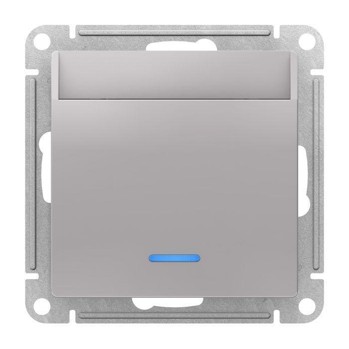 Выключатель карточный для гостиниц , Алюминий, серия Atlas Design, Schneider Electric