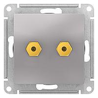 Розетка аудио для колонок 2-ая , Алюминий, серия Atlas Design, Schneider Electric