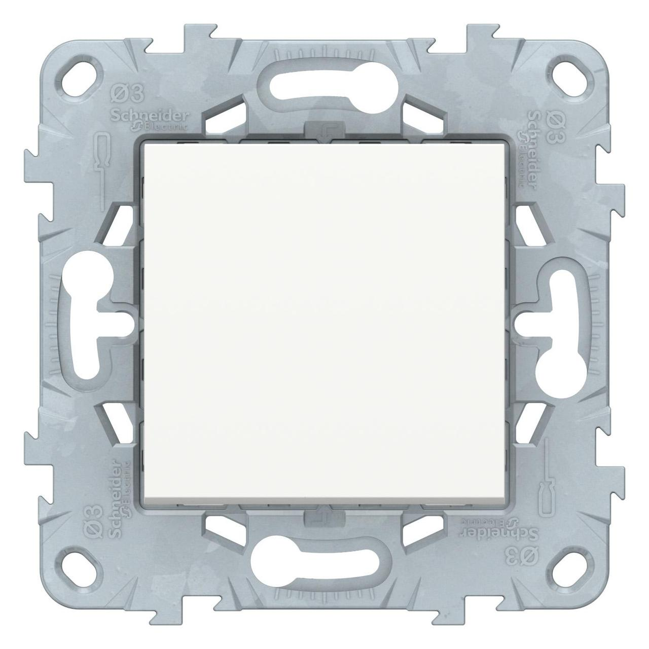 Выключатель 1-клавишный ,проходной (с двух мест) , Белый, серия Unica New, Schneider Electric