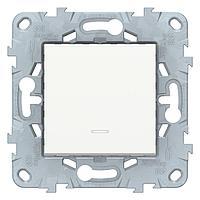 Выключатель 2-полюсный 1-клавишный , Белый, серия Unica New, Schneider Electric