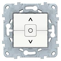 Выключатель для жалюзи (рольставней) с фиксацией , Белый, серия Unica New, Schneider Electric