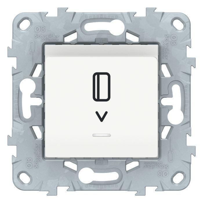 Выключатель карточный для гостиниц , Белый, серия Unica New, Schneider Electric