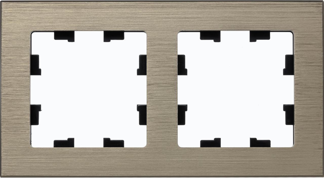 Рамка 2-ая (двойная), Металл Латунь, серия Atlas Design Nature, Schneider Electric