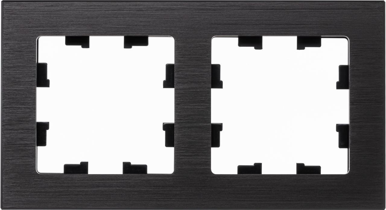 Рамка 2-ая (двойная), Металл Оникс, серия Atlas Design Nature, Schneider Electric