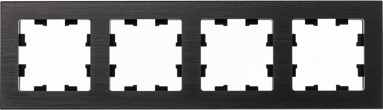 Рамка 4-ая (четверная), Металл Оникс, серия Atlas Design Nature, Schneider Electric