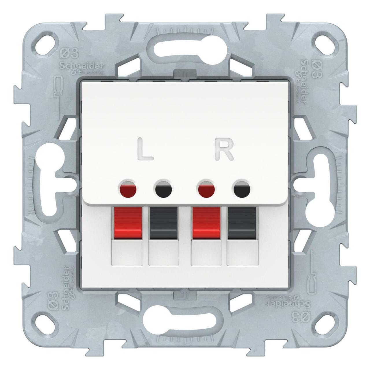 Розетка аудио для колонок 1-ая , Белый, серия Unica New, Schneider Electric