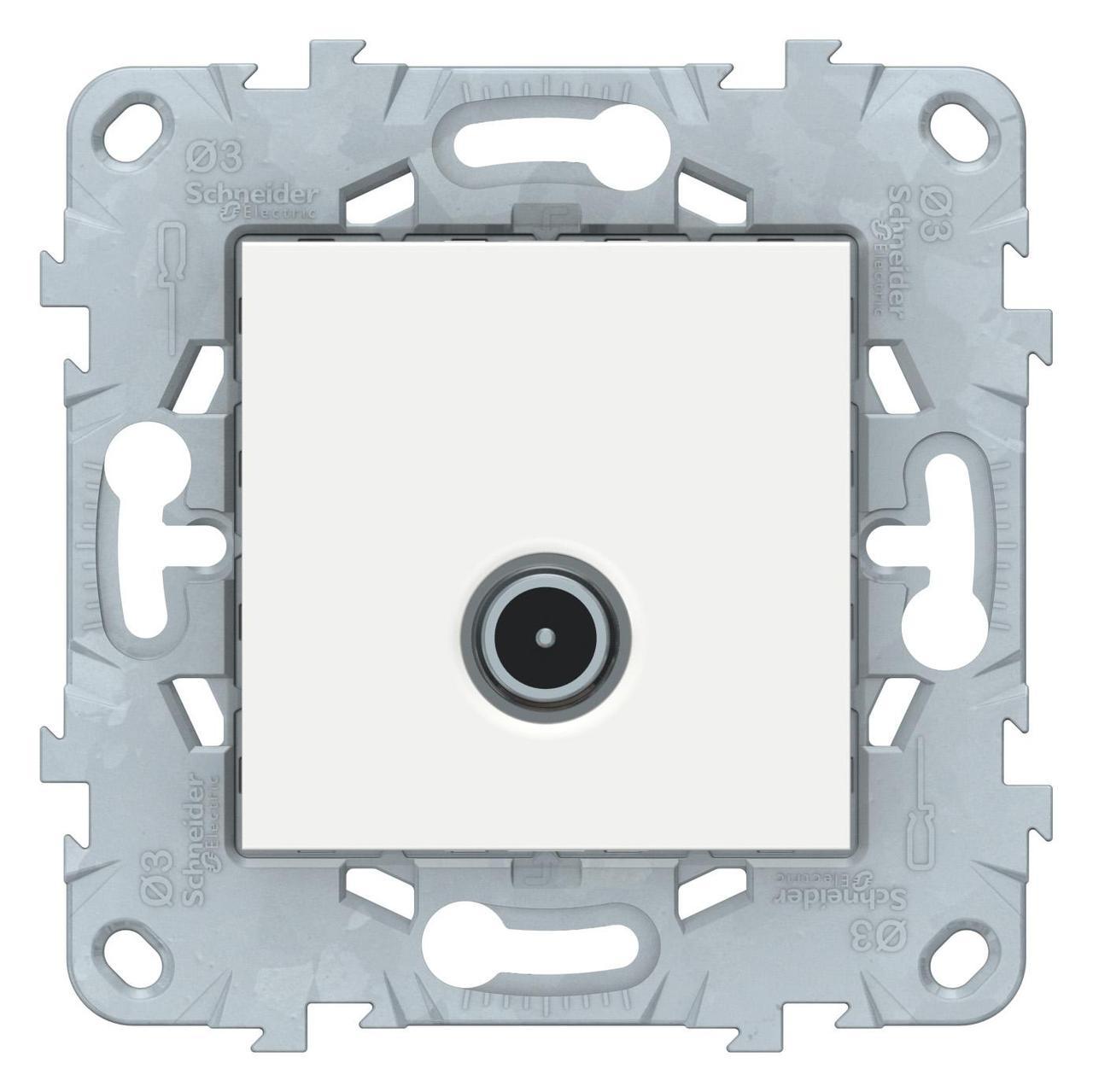 Розетка телевизионная оконечная ТV , Белый, серия Unica New, Schneider Electric