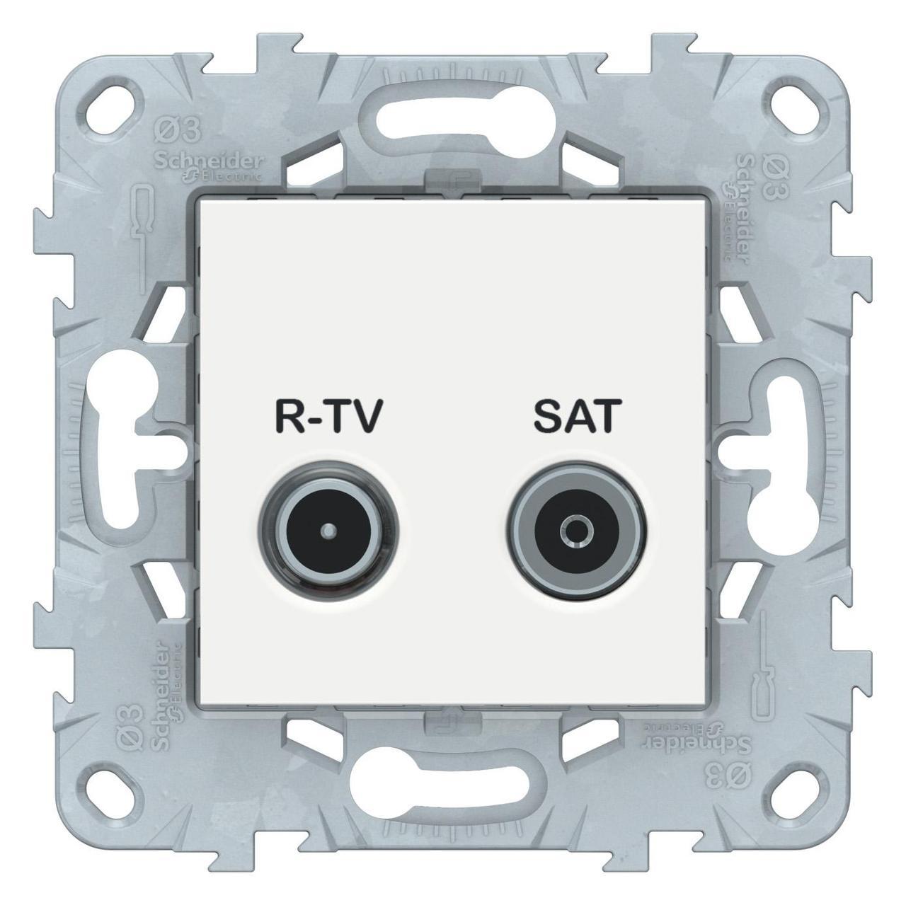 Розетка телевизионная оконечная ТV-SAT , Белый, серия Unica New, Schneider Electric