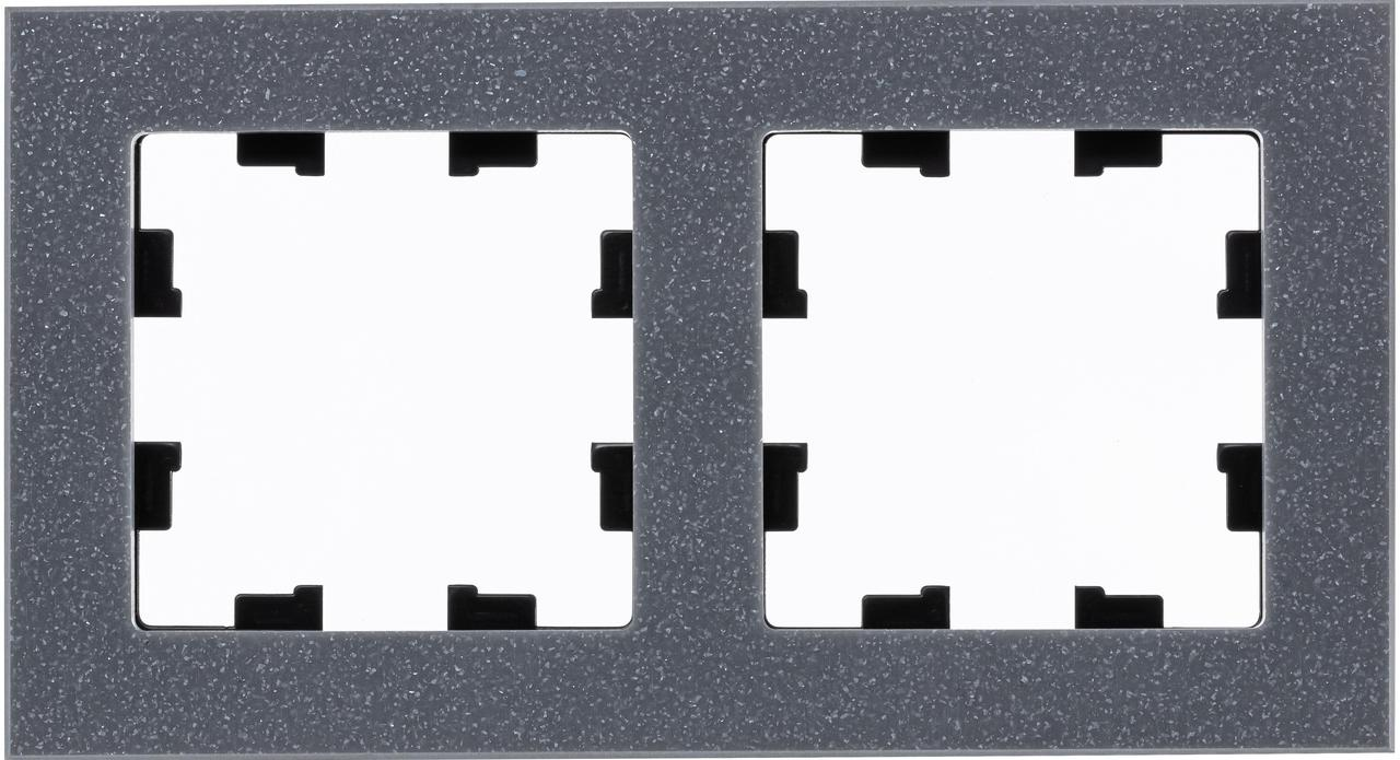Рамка 2-ая (двойная), Мрамор Айс Грей, серия Atlas Design Nature, Schneider Electric
