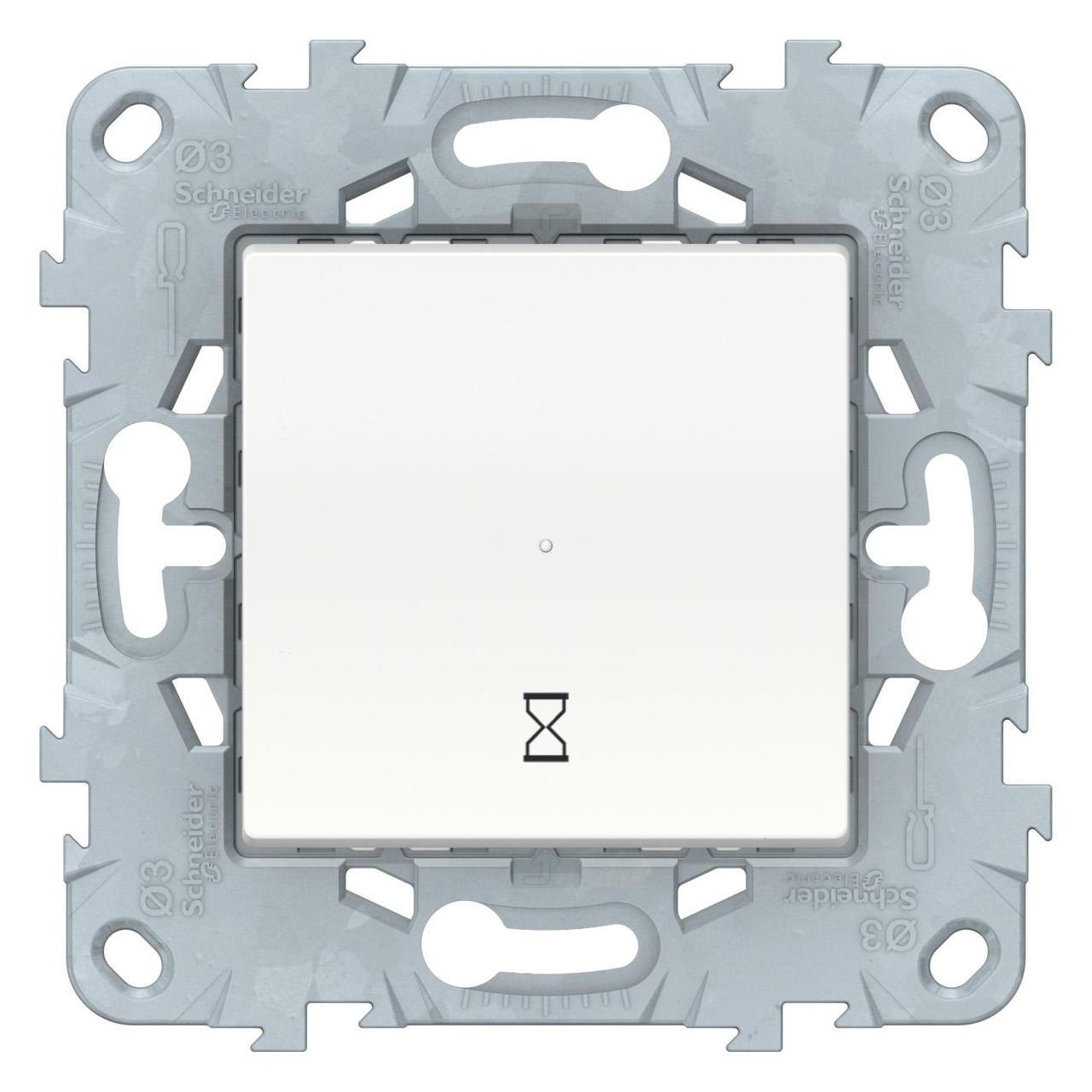 Таймер нажимной , Белый, серия Unica New, Schneider Electric