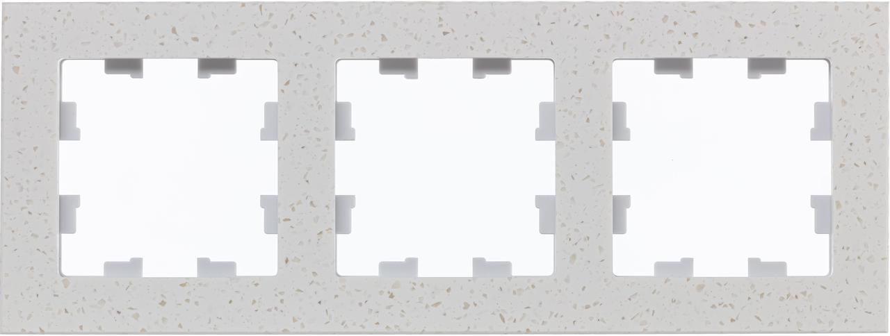 Рамка 3-ая (тройная), Мрамор Крем Роял, серия Atlas Design Nature, Schneider Electric
