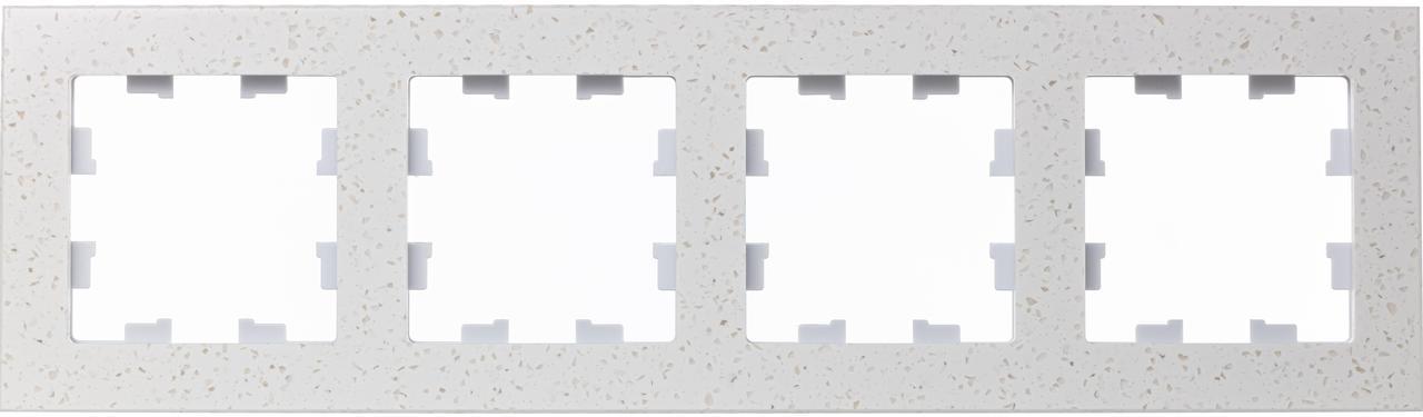 Рамка 4-ая (четверная), Мрамор Крем Роял, серия Atlas Design Nature, Schneider Electric