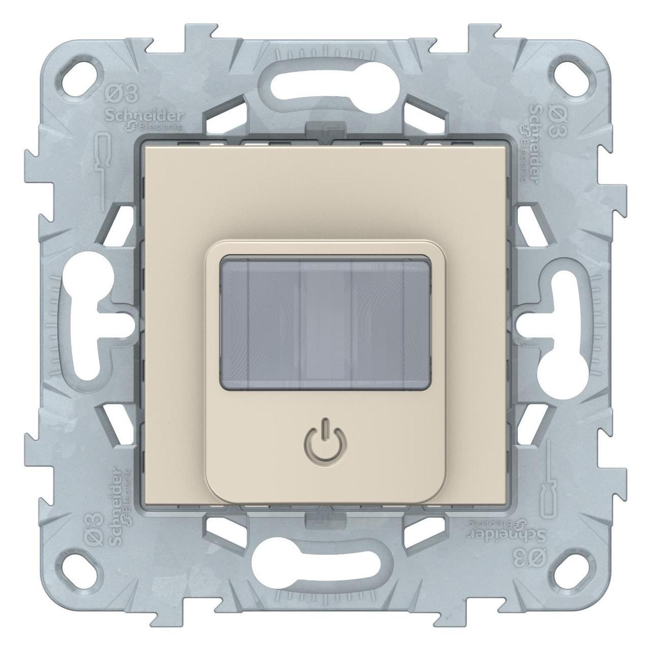 Датчик движения 2300Вт с ручн.упр. 3-х проводная схема, реле , Бежевый, серия Unica New, Schneider Electric