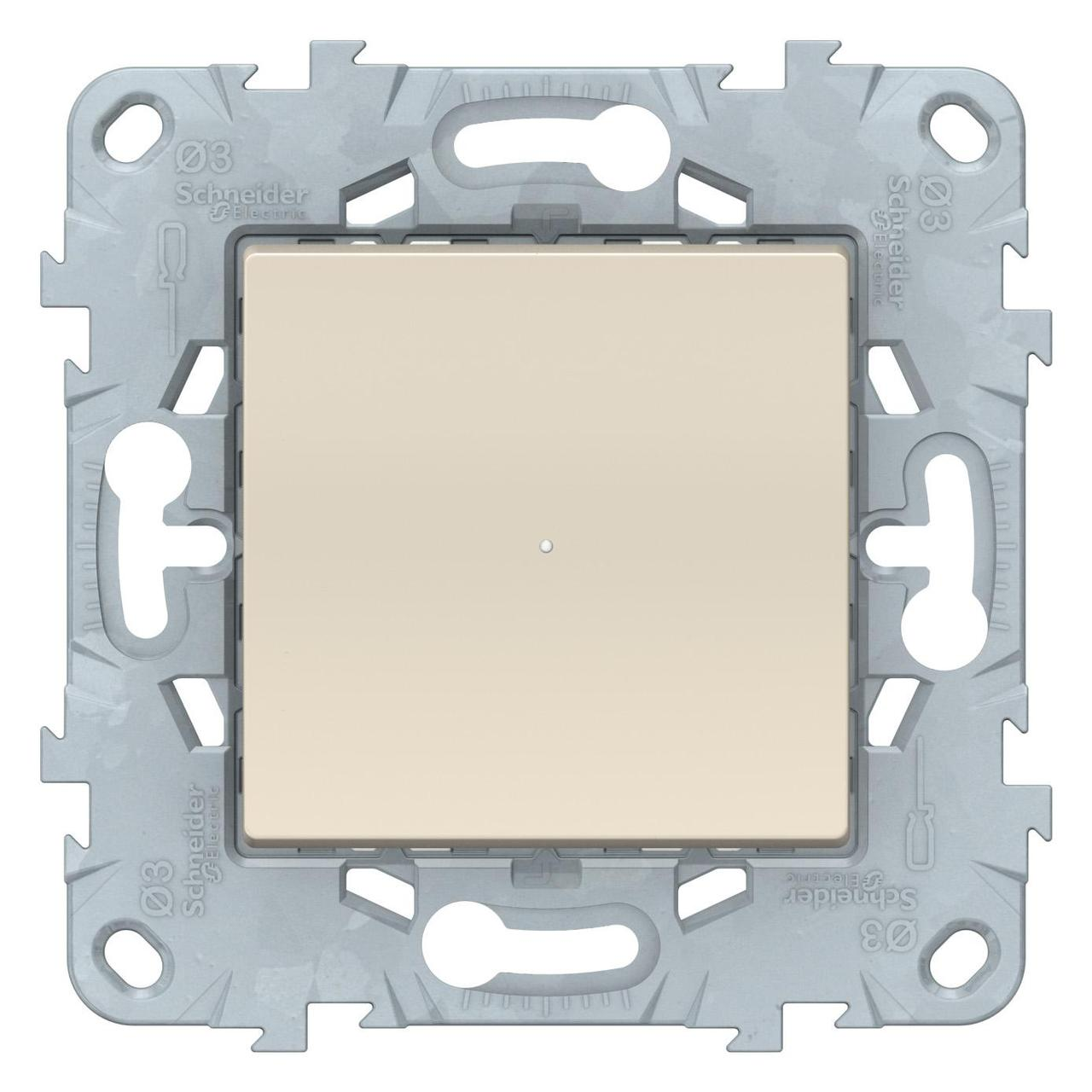 Диммер нажимной (кнопочный) 300Вт универсальный , Бежевый, серия Unica New, Schneider Electric