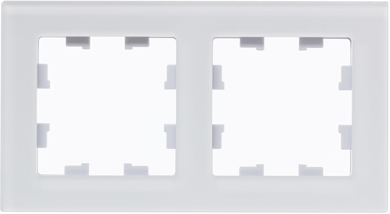 Рамка 2-ая (двойная), Стекло Матовое Белое, серия Atlas Design Nature, Schneider Electric