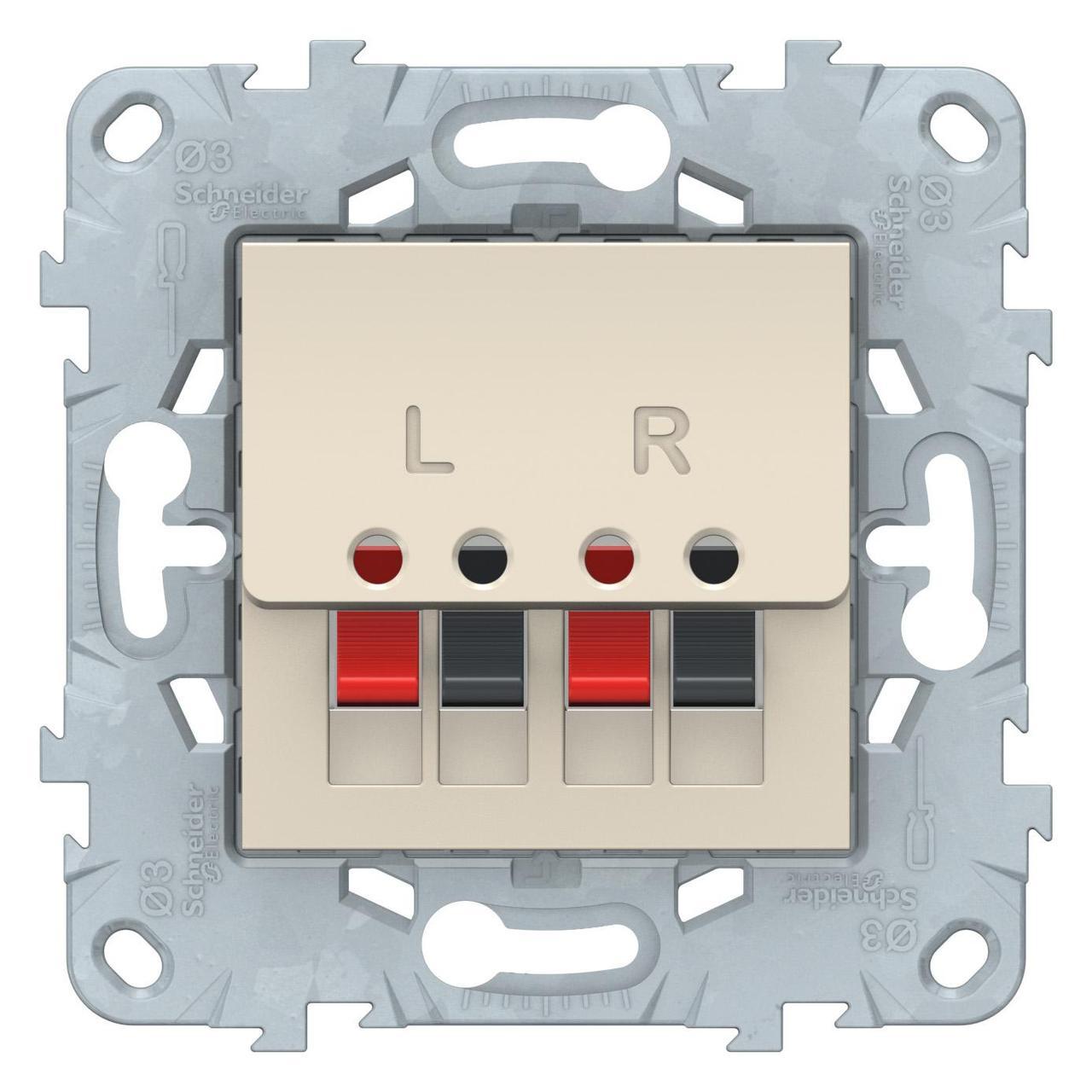 Розетка аудио для колонок 1-ая , Бежевый, серия Unica New, Schneider Electric