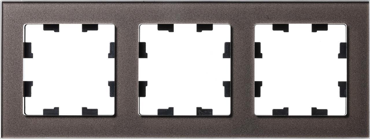 Рамка 3-ая (тройная), Стекло Мокко, серия Atlas Design Nature, Schneider Electric