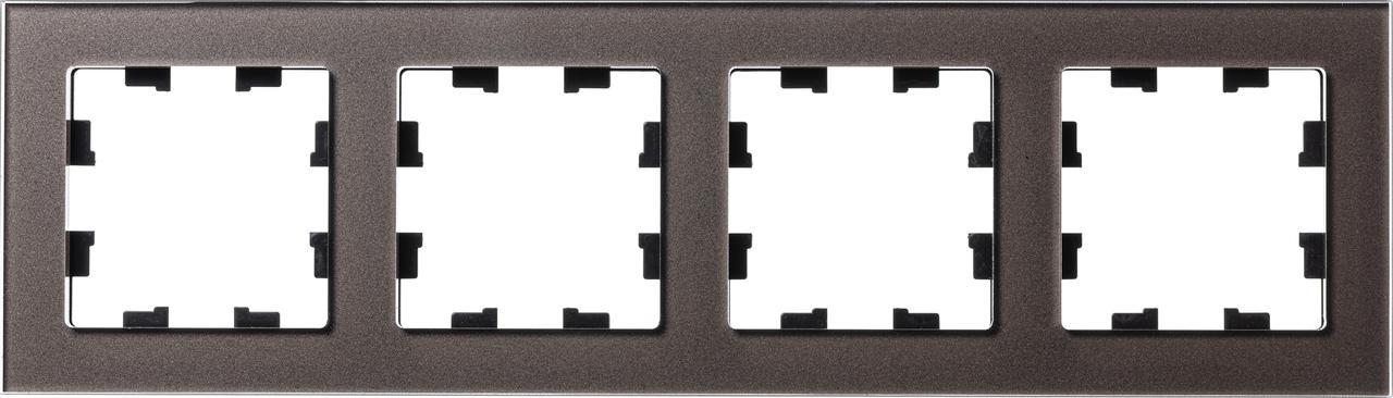 Рамка 4-ая (четверная), Стекло Мокко, серия Atlas Design Nature, Schneider Electric